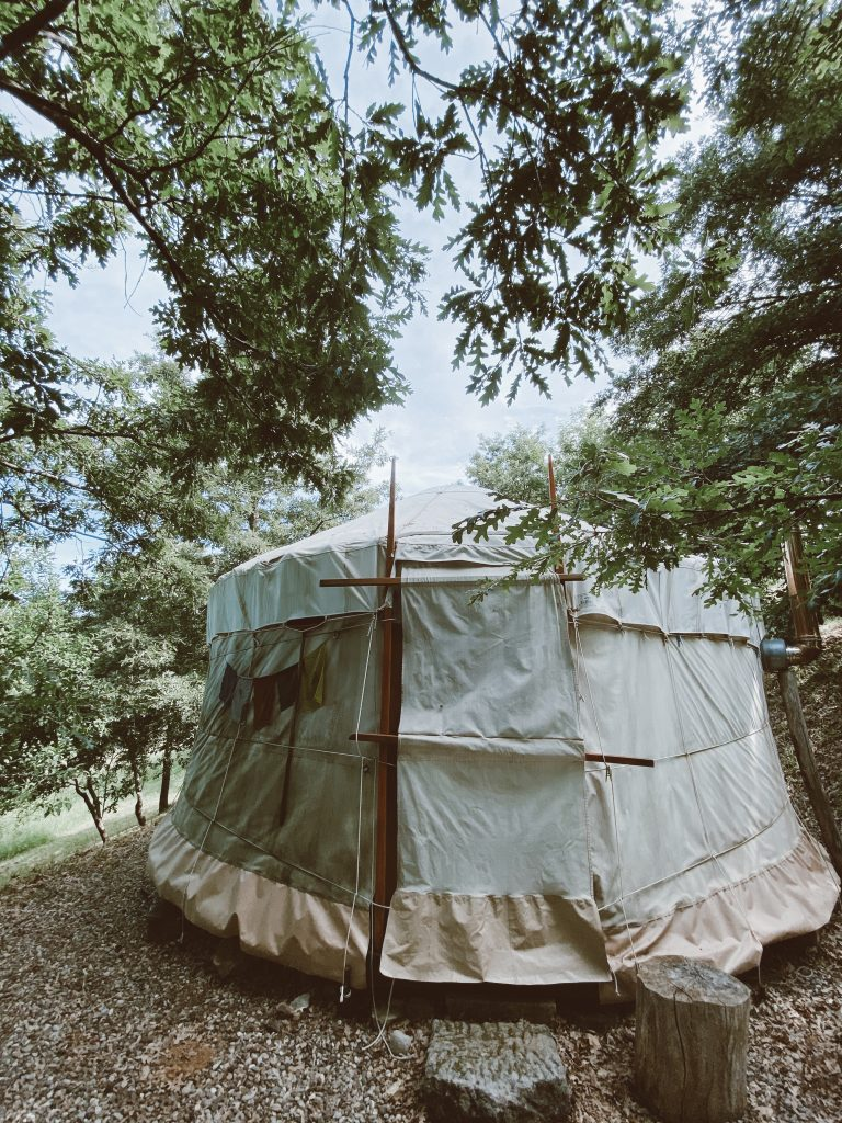 yurta dormire in toscana